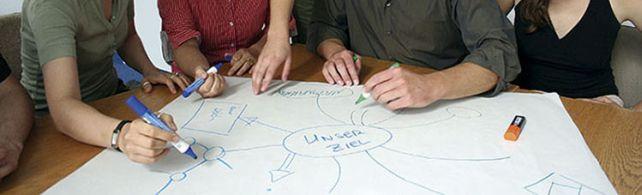 meeting planung in einer gruppe